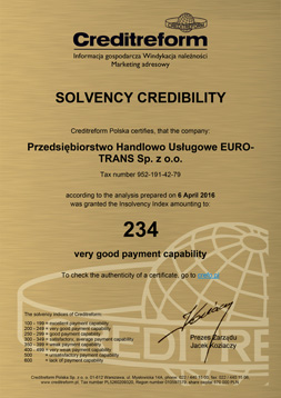 Business Credibility Certificate